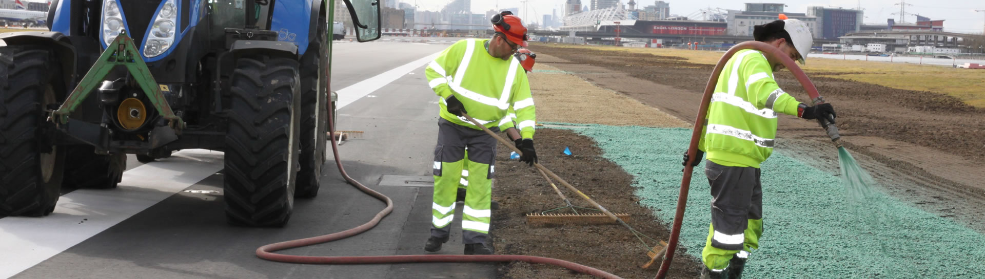 Hydroseeding at City Airport